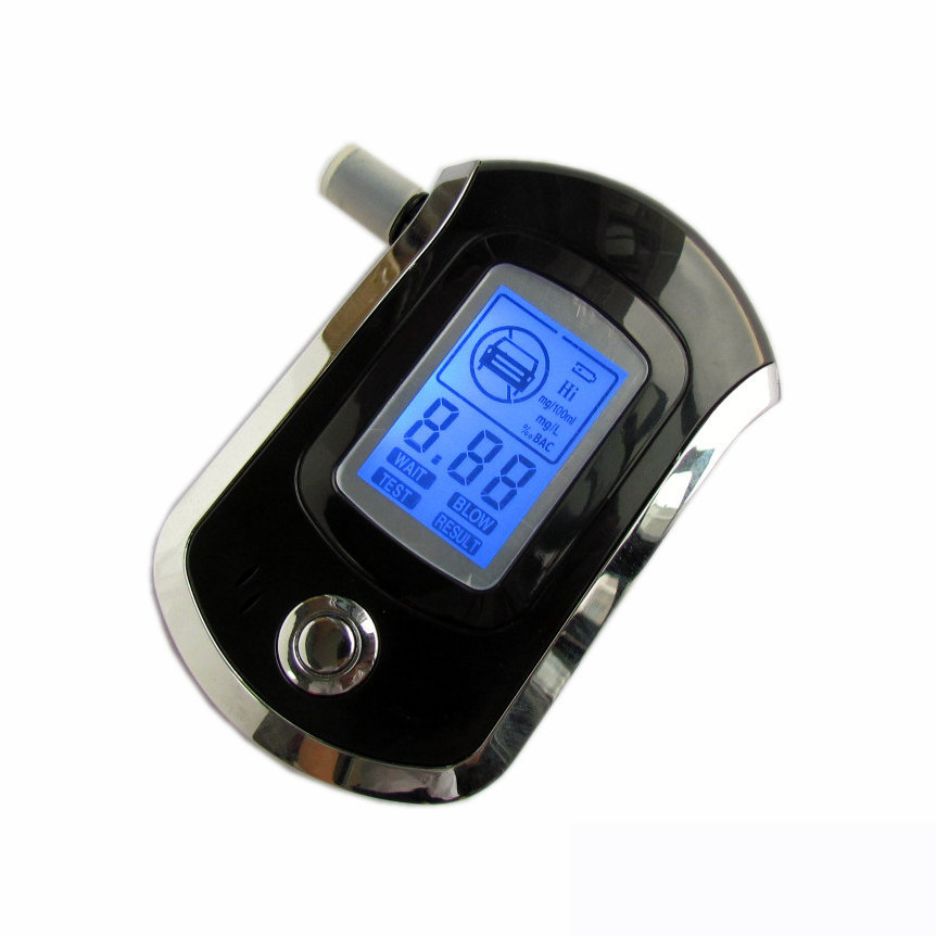 2014 Hot Selling!!! Professional Police Digital Breath Alcohol Tester Breathalyzer AT6000(China (Mainland))