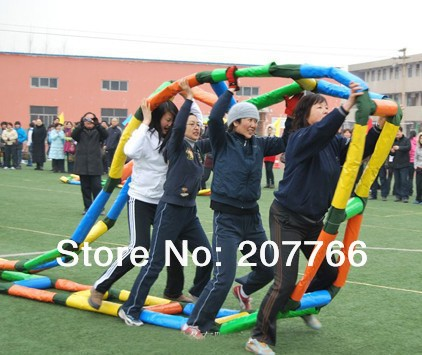 outdoor cooperation development game inflatable race game train race perimeter:7.5m 2pcs per lot(China (Mainland))