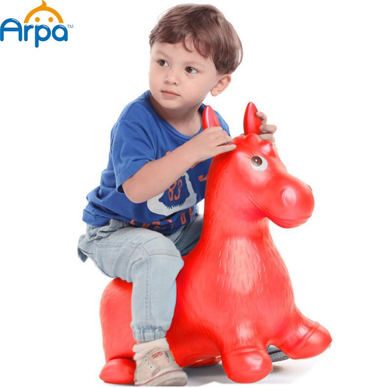 Extra Thickness Large Rides on Toys Inflatable Bouncer Jumping Horse Child Inflatable Rubber Baby Sports Size 60*52*28cm(China (Mainland))
