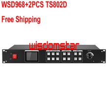 WisdomStar WSD968+2pcs Linsn TS802D LED Video Processor USB & Infrared remote control LED display video processor Free Shipping(China (Mainland))