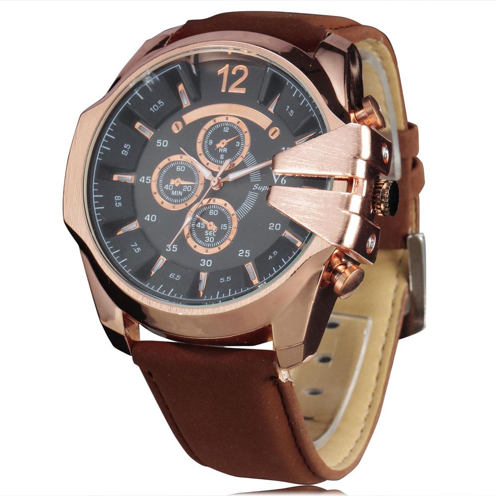 Fashion Rose Golden Dress Watches Men Luxury Brand Quartz Watch Vintage Steampunk Crown Design Casual Sport Wristwatches relojes<br><br>Aliexpress