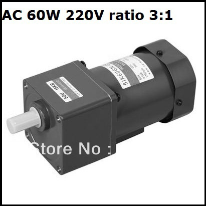 Ac Induction Gear Motor 60w 220v Single Phase 50hz Gear