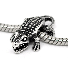 Buy DoreenBeads antique silver Crocodile Charm Beads Fit European Charm 25x16mm,10PCs, 2015 New for $1.86 in AliExpress store