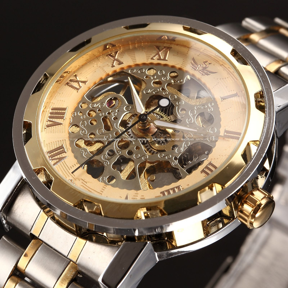aliexpress buy transparent gold watches