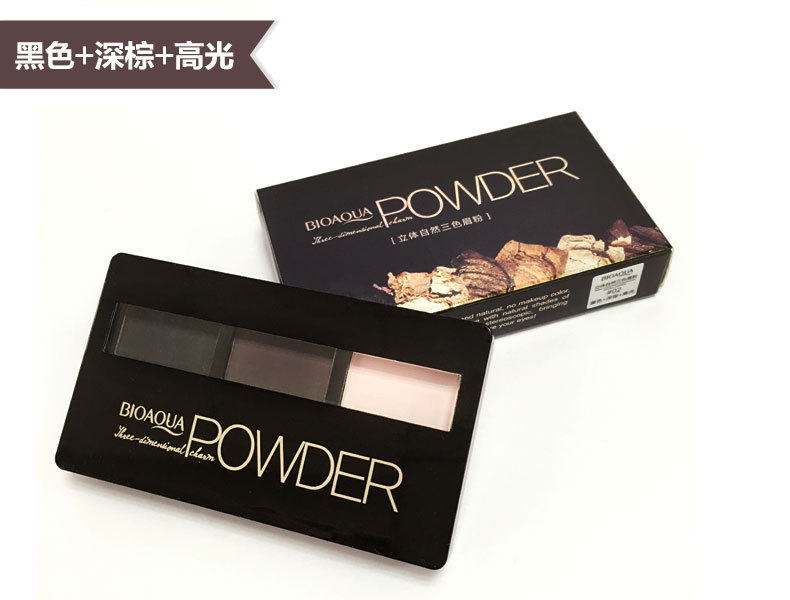 Natural color stereo eyebrow gloss not dizzydo not Eyeshadow Makeup Eyebrow bleaching of foreign trade