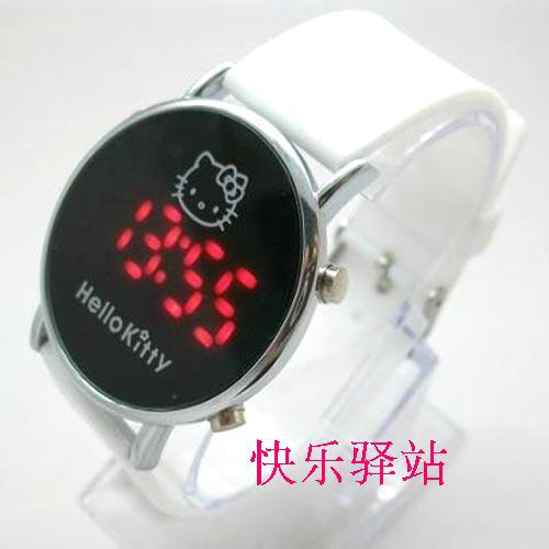 White Silicone Hello Kitty Watch Children Watch led digital fashion watch Free & Drop Shipping 1PCS(China (Mainland))