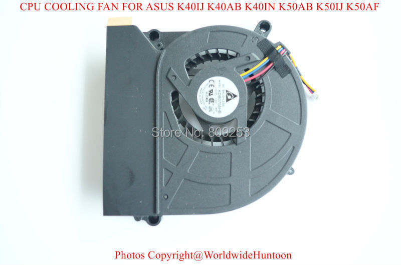 Free shipping NEW DELTA KDB0705HB -9K57 LAPTOP CPU FAN FOR ASUS K50IN CPU COOLING FAN(China (Mainland))