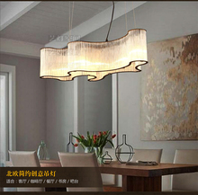 Modern minimalist pendant light American creative personality atmospheric restaurant cafe bar iron crystal hanging lamp room.(China (Mainland))