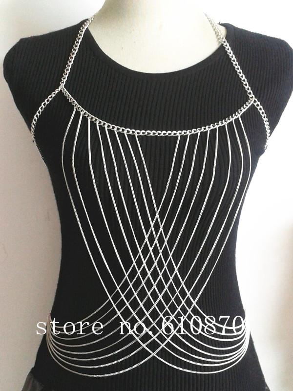 Women Body Full Metal Chain Jewelry 2014 Fashion Body ...