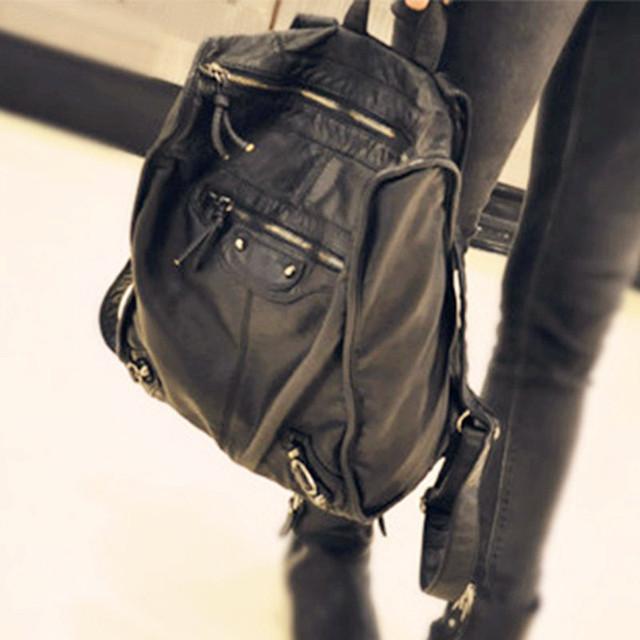 Классический восстановить дизайн 2015 женщины рюкзак импорт кожаный рюкзак школьные ...