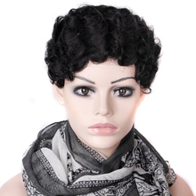 2015 Cheap Wig Women Lady'sCheap Short Black Curly Hair Wig + Wig Net Gift Heat Resistant Synthetic Hair wigs Free Shipping