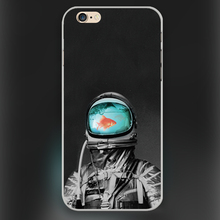 Underwater astronaut Design black skin case cover cell mobile phone cases for Apple iphone 4 4s 5 5c 5s 6 6s 6plus hard shell