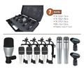 7kit 7 piece Drum Mic Set In One Box Portable Case for musical instrument jazz band