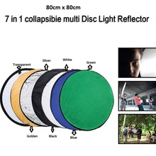 "80cm 7 in 1 32"" Colorful Portable Photography Studio Reflector Multi Photo Disc Collapsible Light Reflector(China (Mainland))"