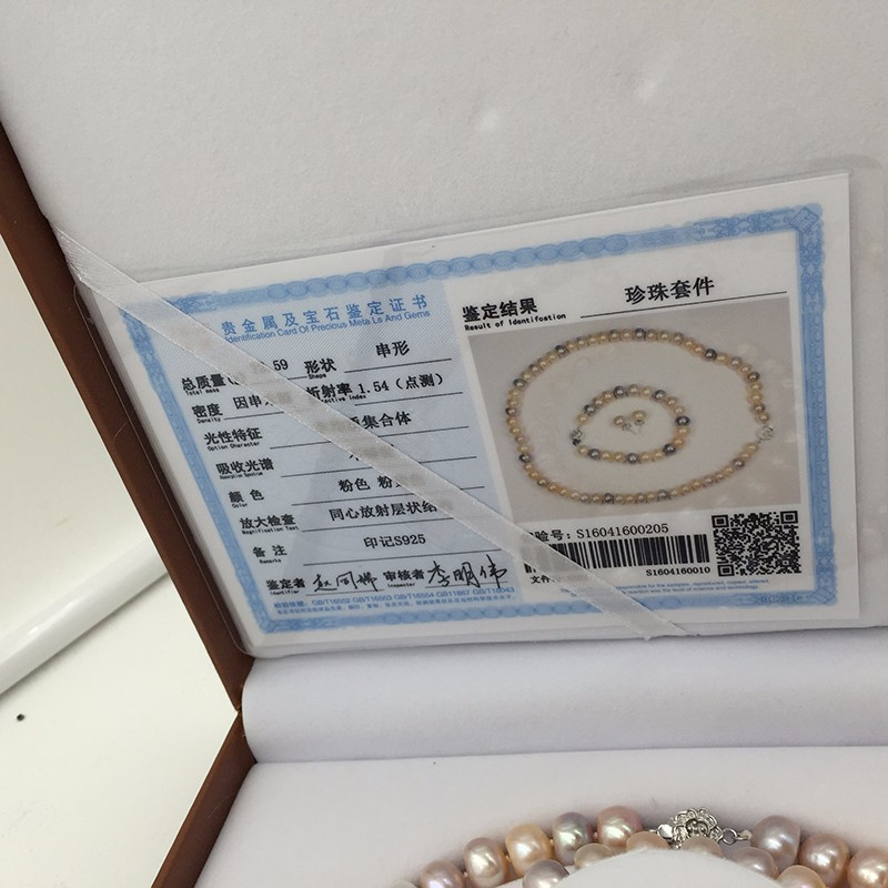 Sinya natural freshwater pearls jewlery set  (12)