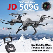 Bonus! New Arrival JD509 FPV 2.4Ghz 4CH RC 6-Axis Quadcopter Drone with 2.0MP HD Camera RTF UFO UAV with 4GB TF Card
