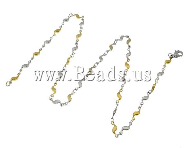 Free shipping!!!Necklace Chain,2013 Womens, 316L Stainless Steel, two-tone, 11.50x4x2mm, Length:17.5 Inch, 20Strands/Lot<br><br>Aliexpress