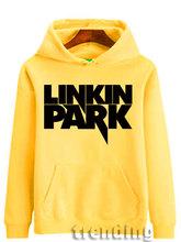 Новая Мода Человек Женщины Linkin Park Рок-группа пуловер на осень-зиму теплая толстовка с капюшоном хлопковый свитшот пальто Топ Толстовки евро...(China)
