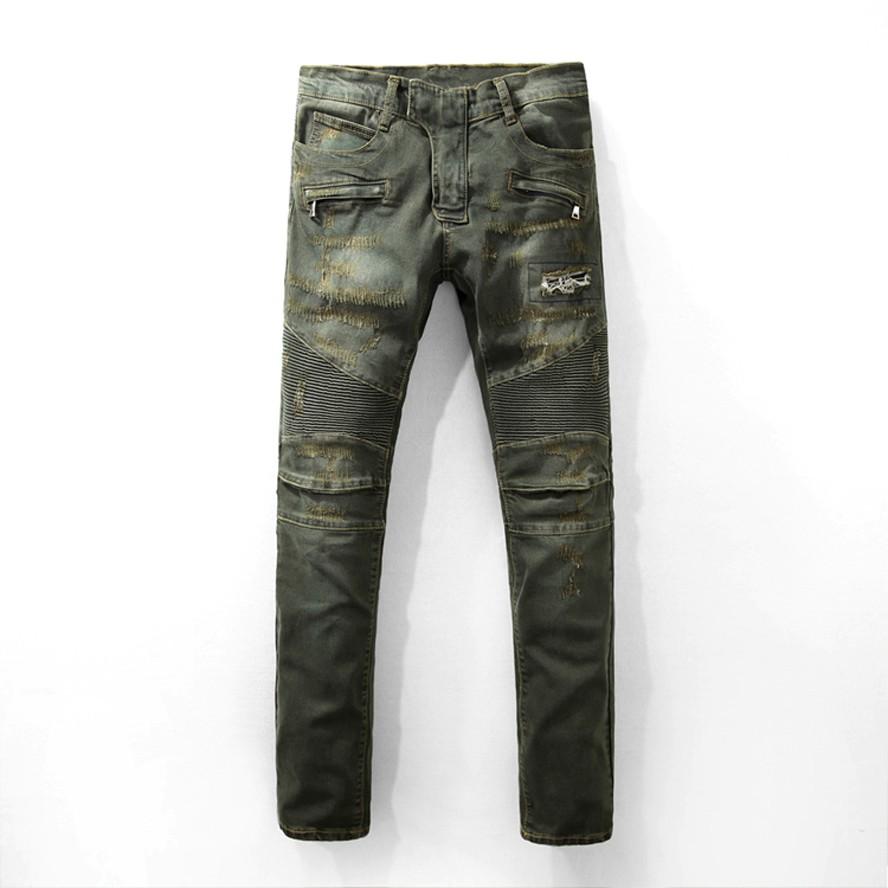 Brand man pants 2017 new fashion men's jeans Mid-waist straight denim pants slim high quality men's clothing jeans uomo