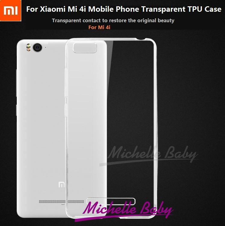 Xiaomi Mi 4i Ultra Thin 0.6mm Soft TPU Protective Case/Transparent Back Cover For Mi 4i Mobile Phone(China (Mainland))
