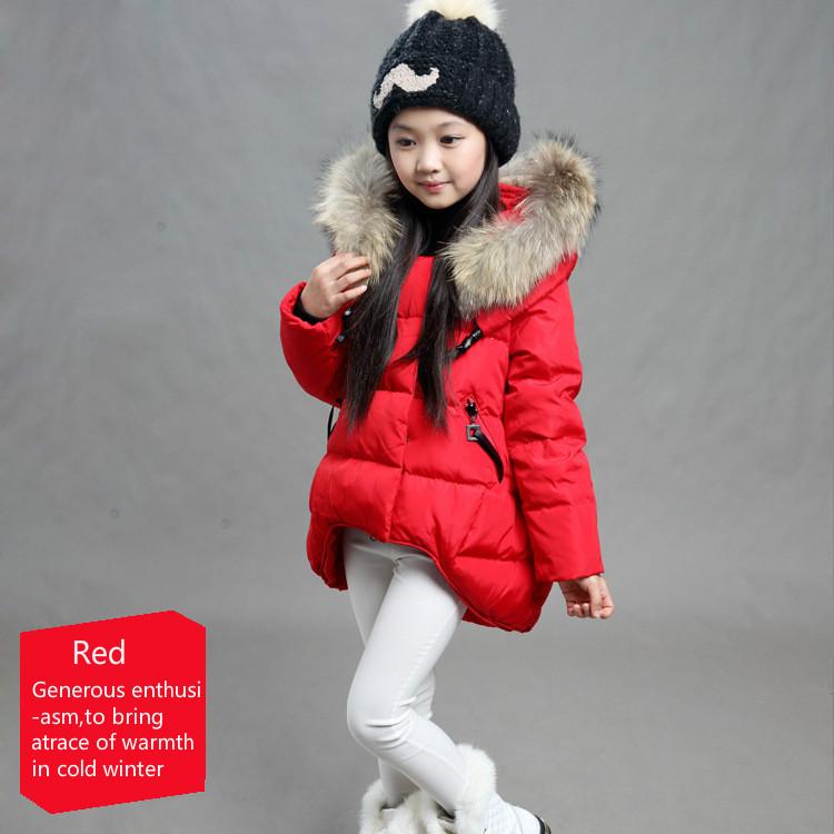 Winter Paragraph Cotton Jacket Korean Girls Big Virgin Feather Fur Collar Padded Jackets Children<br><br>Aliexpress