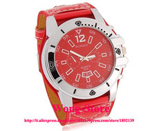 Free Shipping 2015 WoMaGe 9332 big watch square watch  Analog Watch with PU Leather Strap