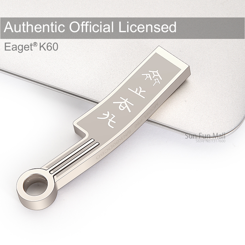 EAGET K60 USB Flash Drive 16G 32G 64G 3.0 Ultra Fast Metal Waterproof Capless Memory Stick Portable Storage - Sun Fun Mall store