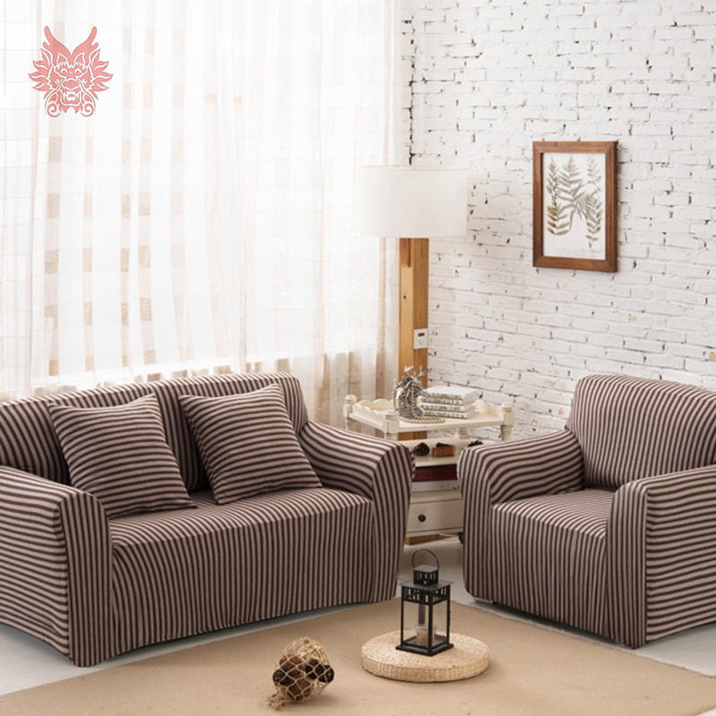 FREE SHIP 1SEAT 2SEATS 3SEATS 4SEATS Modern style stripe print living room Universal Elastic force Sofa cover Slipcover SP2353