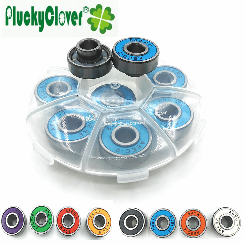 2016 New Innovative 608rs Skateboard Bearing Abec9 Integrated spacer Bearings Longboard Bearing 608 Speed Skating FSK Skate Part(China (Mainland))