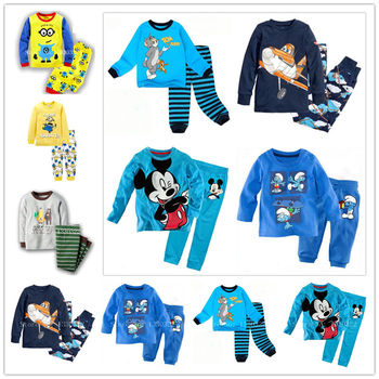 2016 winter clothes girls baby kids boys children clothing sets suits pajamas for boys 2 piece sleepwear home lovely