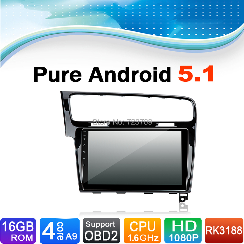 Pure Android 5.1.1 System Auto Radio Autoradio Car Media Player Stereo DVD for Volkswagen VW Golf 7