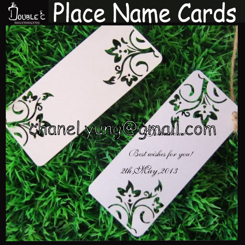 100pcs Wedding Wishing Tree Tags-Flowers design place name cards/gift card Tag Wish Card Wedding Favors Party Decoration(China (Mainland))