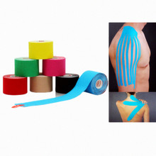 Muscle Tape 5cm x 5m Sports Tape Kinesiology Tape Cotton Elastic Adhesive Muscle Bandage Care Physio Strain Injury Support(China (Mainland))