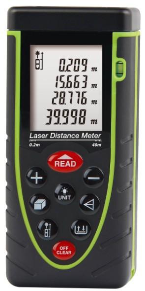 Бесплатная доставка RZ40 40 м лазерный дальномер дальномер пузырь уровень рулетка площадь / объем с M / inch / ft инструмент