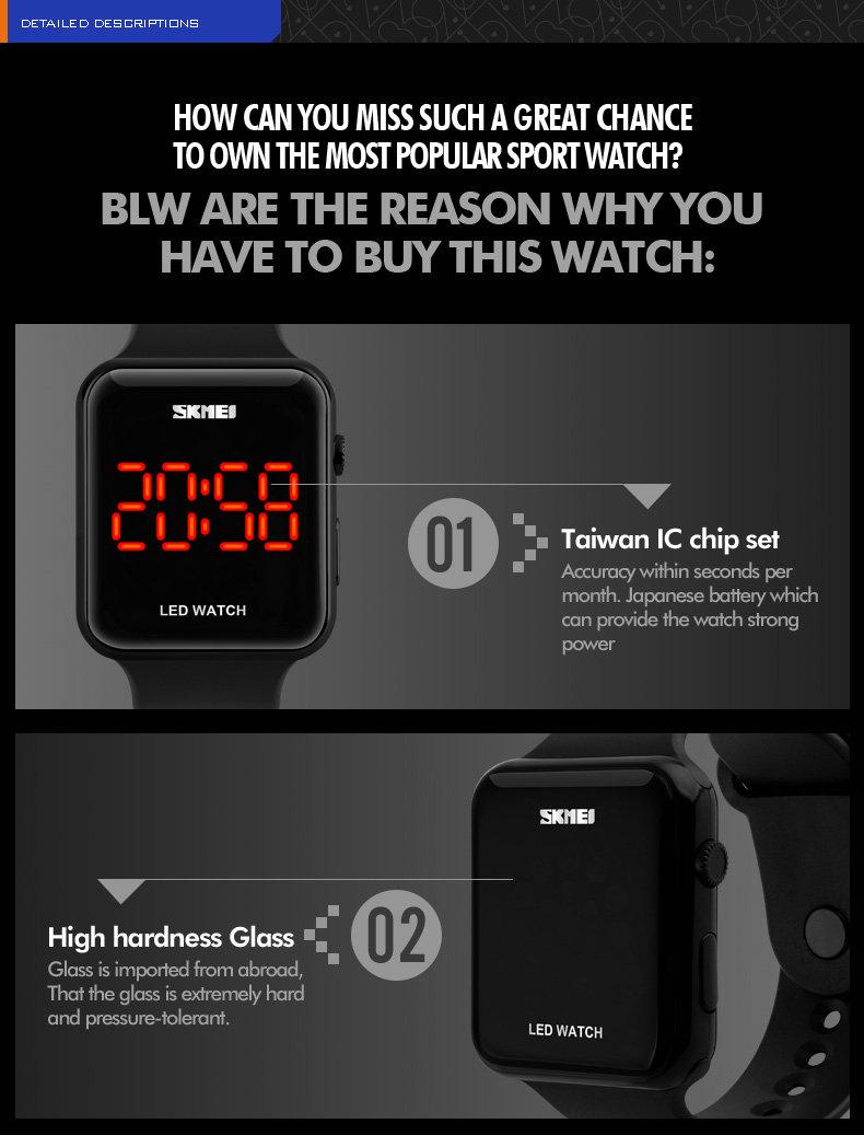 Девушки подарок Водонепроницаемый Китай Светодиодные Часы Спорт Мода Стиль цифровой календарь электронные часы золотые женские движения