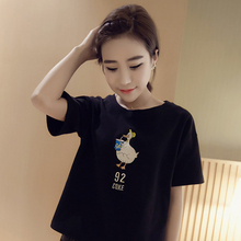 Summer Fashion Women Japanese Harajuku Cute Soft Cartoon Print Loose Short Sleeve T-Shirts Lady Girls Basic Tee T Shirts Tops(China (Mainland))