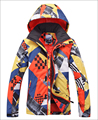 Gsou Snow Men Ski Jacket Double Plate Mens Snowboard Jacket Waterproof Breathable Snow Clothing Winter Coat