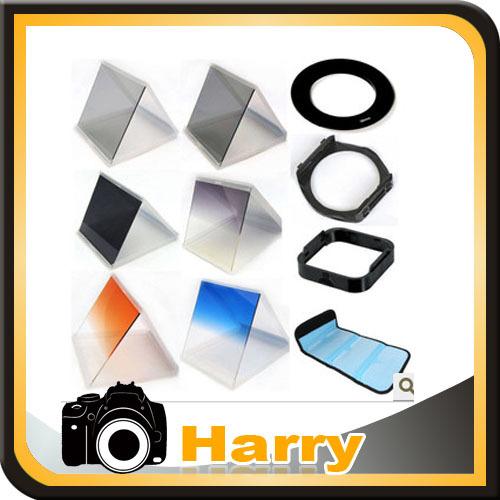 10 1 filter set gradient mirror x3 nd mirror +77mm adapter ring +filter holder+filter bag case +Lens Hood & Holder for Cokin P