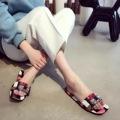 2017 New 100 Silk Comfort Summer Slippers Flat Shoes Luxury Designer Cristal Sandals Bling Slippers Sandals