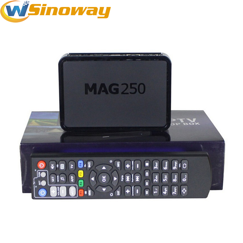 10pcs Best sale mag250 IPTV box Linux Operating System Set Top Box MAG 250 support Wifi usb connector Not include IPTV account(China (Mainland))