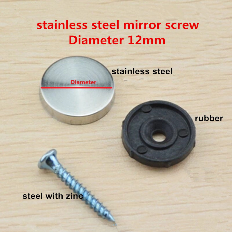 20sets 12mm diameter stainless steel cap cover decorative mirror screw for furniture<br><br>Aliexpress