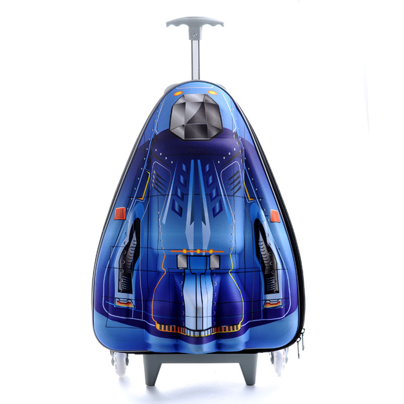 3D plane children school bags primary backpack child mochila infantil bolsas trolley kid bag aircraft stairs suitcase &88132