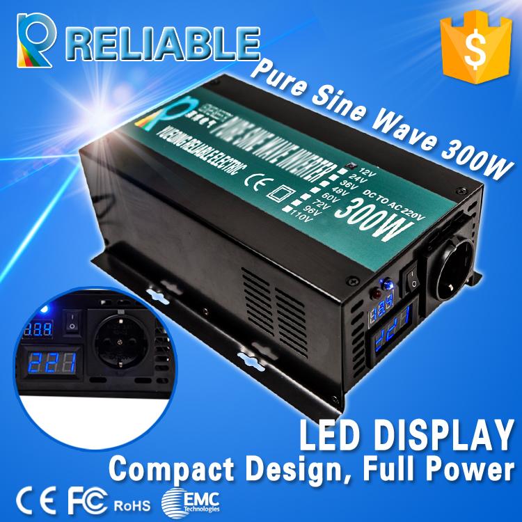 off-grid 300W full power 600w Peak Pure Sine Wave Solar Power Inverter 12v 220v dc to ac power inverter for home(China (Mainland))
