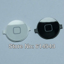 100pcs Home Button for iPhone 4 4G black white colour Mix free shipping Best prices(China (Mainland))
