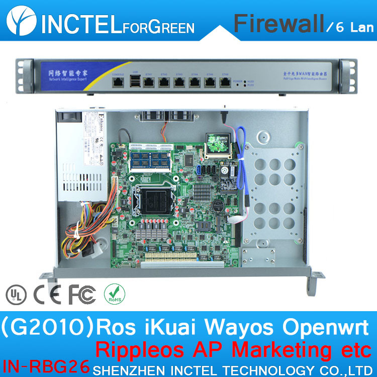 ROS 6*Gigabit Flow Control Mikrotik RB433HA with G2010 CPU 1000M 6*82574l Model Number IN-RBG26(China (Mainland))