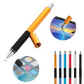 2 in 1 Multifunction Fine Point Round Thin Tip Touch Screen Pen Capacitive Stylus Pen For