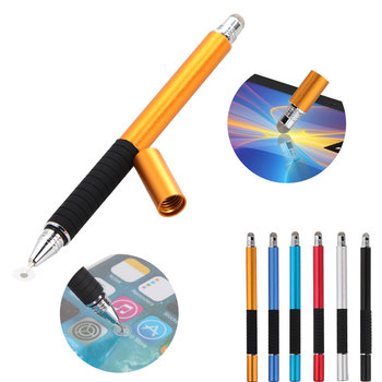 2 in 1 Multifunction Fine Point Round Thin Tip Touch Screen Pen Capacitive Stylus Pen For Smart Phone Tablet For iPad For iPhone
