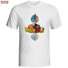 Dragon Ball Супер Saiyan Роза футболка японского аниме Гоку черная футболка крутая модная мультфильм супер печатная Футболка брендовая мужская фут...(China)