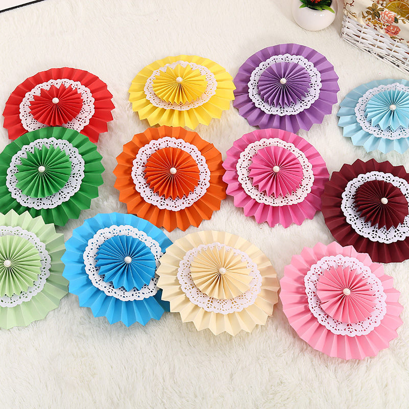 40cm Colorful Tissue Paper Fans Party Wedding Birthday Hanging Decoration Shower Crafts Party Wedding Supplies Home Decorations(China (Mainland))