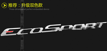 High Quality For Ford Ecosport 2013 - 2015 ABS Rear Spare Tire Cover Sticker / 2 model for choice!(China (Mainland))